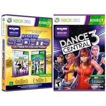 Kinect Sports + Dance Central 3 - X360 Lacrado Em Português.