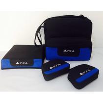 Bolsa Ps4 +capa Proteção +02 Case Controle Ps4 Frete Gratis
