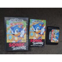 Sonic Original Americana Com Caixa E Manual.