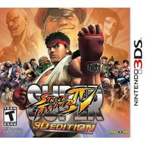 Jogo Super Street Fighter Iv 3d Edition Para 3ds Semi Novo