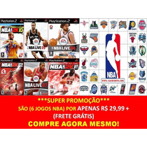 Nba 2014 - 2015 Para Playstation 2 (kit 6 Jogos Ps2 Nba 2k15