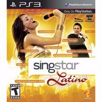 Singstar Latino + 2 Microfones Original Da Sony Ps3