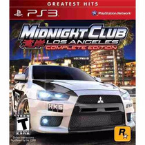 Midnight Club Los Angeles Complete Edition Ps3 Digital Mg!!!