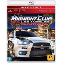 Midnight Club Los Angeles Complete Edition - Ps 3 - Lacrado