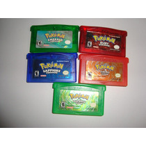Fita Pokemon Gba Leaf Green Sapphire,ruby,firered Valor Cada