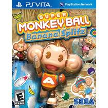 Jogo Novo Super Monkey Ball Banana Splitz Para Ps Vita