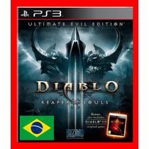 Diablo 3 Reaper Of Souls - Ps3 Psn Diablo Iii Portugues Br