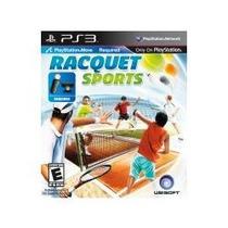 Jogo Racquet Sports Compativel Com Psmove Ps3 Lançamento Usa