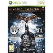 Batman Arkham Asylum - Game Of The Year Edition - Xbox 360