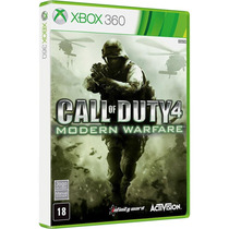 Call Of Duty 4 Modern Warfare Xbox 360 Mídia Fisica Lacrada