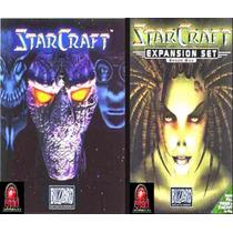 Game Pc Starcraft + Expansão Brood War Original Novo Lacrado
