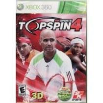 Jogo Topspin 4 Da 2k Sports Compativel Com 3d Para Xbox 360
