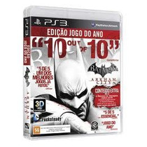 Jogo 3d Batman Arkham City Game Of The Year Edition Para Ps3