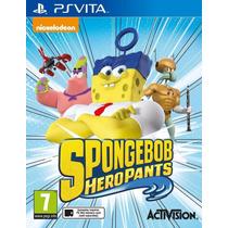 Jogo Novo Lacrado Spongebob Heropants Para Ps Vita
