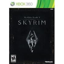 Skyrim The Elder Scrolls V Mídia Física Xbox 360
