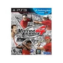 Jogo Americano Para Ps3 Virtua Tennis 4 3d Compativel Move