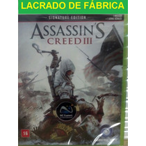 Lacrado Assassins Creed 3 Signature Português Br Xbox360