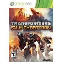 Jogo Transformers Fall Of Cybertron Lacrado Para Xbox 360