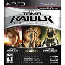 Jogo Para Ps3 The Tomb Raider Triology 3 Jogos Em 1