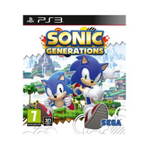 Sonic Generations Jogo Infantil Playstation 3 - 3d Ps3