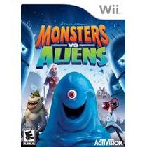 Jogo Ntsc Lacrado Monsters Vs Aliens Dreamworks Para Wii