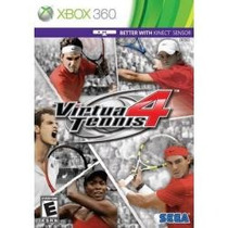 Jogo Americano Lacrado Virtua Tennis 4 Kinect Para Xbox 360