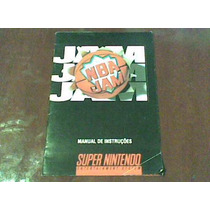 Nba Jam Super Nintendo Só O Manual