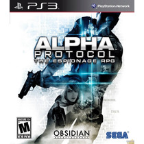 Alpha Protocol The Espionage Rpg Ps3 Jogo Lacrado Original
