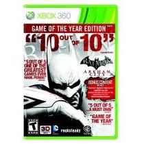 Jogo Batman Arkham City Game Of The Year Edition Xbox 360