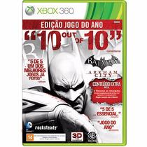 Batman Arkham City Goty Xbox360 Em Perfeito Estado!!!