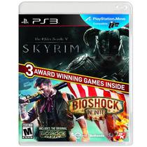 2 Jogos Bioshock Infinite + Skyrim Para Playstation 3