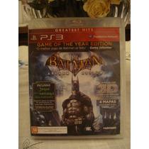 Batman Arkham Asylum Goty Ps3 Jogo Game