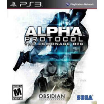 Jogo Ps3 Alpha Protocol The Espionage Rpg Usado