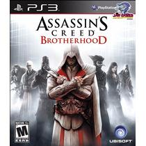 Jogo Ps3 - Assassins Creed Brotherhood - Novo
