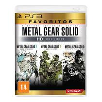 Metal Gear Solid Hd Collection Mgs Ps3 Mídia Física Lacrado