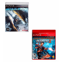 Kit 2 Jogos: Uncharted 2 + Metal Gear Rising - Lacrado!