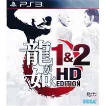 Ryu Ga Gotoku 1&2 Hd Edition Ps3 Raro! Yakuza 1 E 2