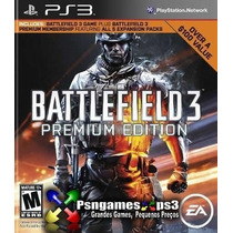 Battlefield 3 Prem. Edition - Jogo + Dlcs - Psngamesps3