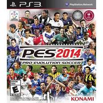 Ps3 Pes 14 Pro Evolution Soccer 2014 Dub. Pt-br Psn + Brinde