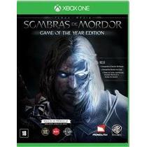 Sombras De Mordor - Edição Jogo Do Ano ( Xbox One Digital )