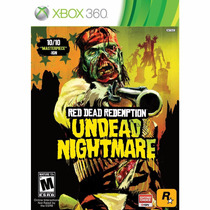 Red Dead Redemption Undead Nightmare Dvd Original Xbox 360