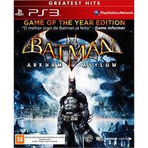 Jogo Batman Arkham Asylum - Ps3 - Novo - Lacrado
