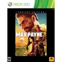 Max Payne 3: Special Edition - Pronta Entrega - Temos Esedex