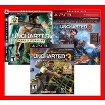 Uncharted Sagas Trilogia Uncharted 1,2,3 Midia Fisica - Ps3
