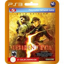 Resident Evil 5 Gold Edition! (código Ps3) - Envio Rápido!