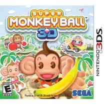 Jogo Super Monky Ball 3d Para Nintendo 3ds A6108