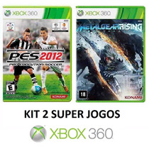 Pes 2012 / 12 + Metal Gear Rising - Xbox 360 - Midia Fisica