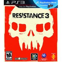 Jogo Resistance 3 Ps3 Midia Fisica Fabricação Br Lacrado Nf