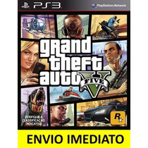 Jogo Gta V Gta 5 Grand Theft Auto Ps3 Digital Psn Português