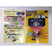 Encarte Poster Sega 32x